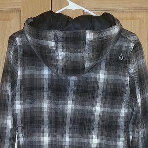 Plaid hooded Volcom jacket